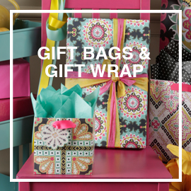 THE GIFT WRAP COMPANY – Gift bags, roll wraps, decorative tissue, gift enclosure cards, blank note cards, bound journals, flexi cover notebooks, pencils and pencil cases.