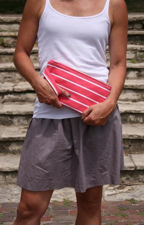 Small Stripe Red clutch