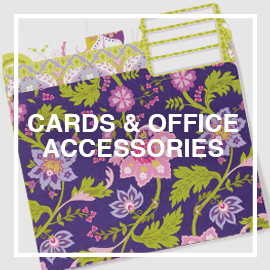 ANNA GRIFFIN, INC. - Decorative office products such as file folders and large notepads. Plus greeting cards, shaped notecards, stationery gifts and paper placemats