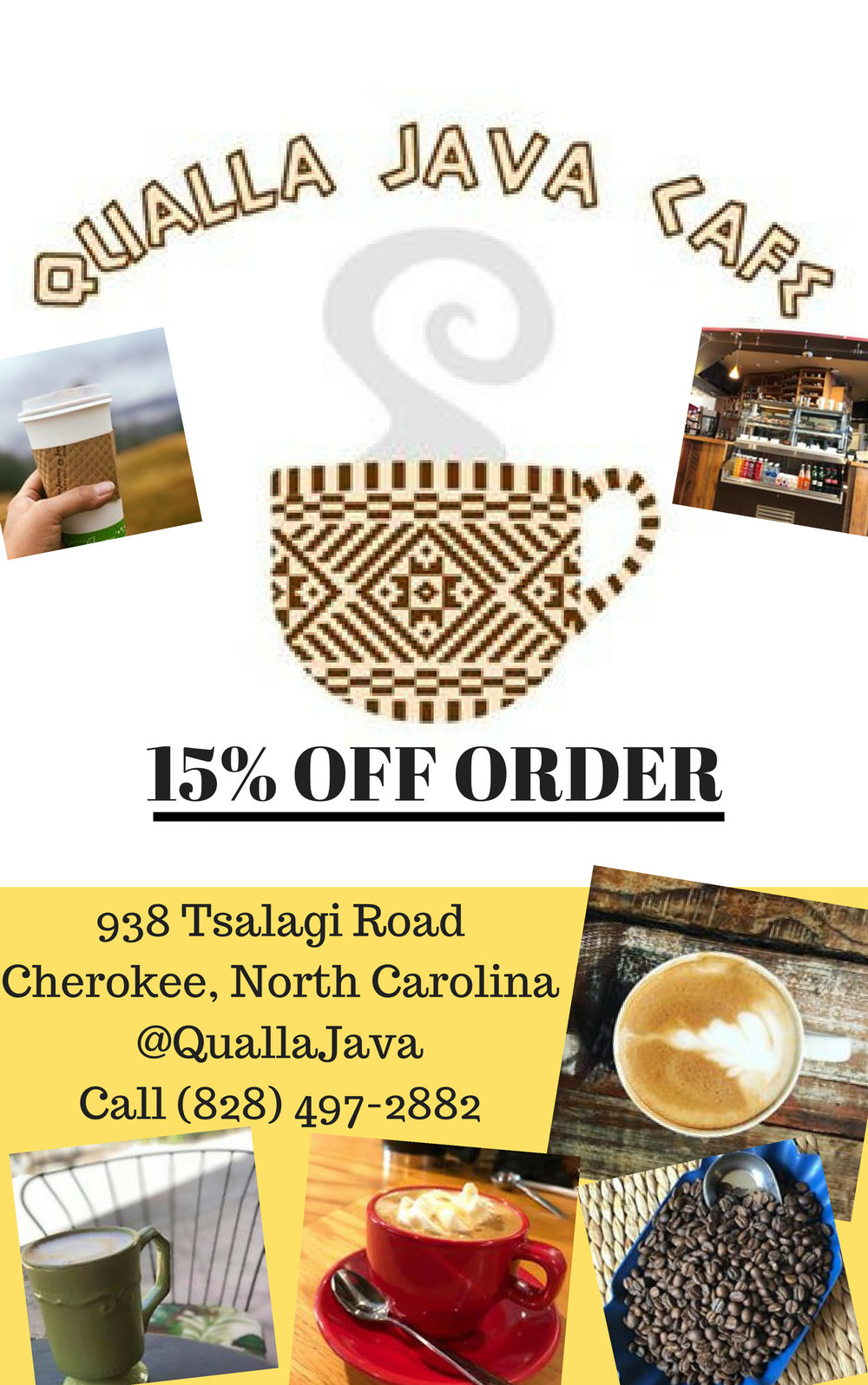 Qualla Java Café  15% OFF Order
