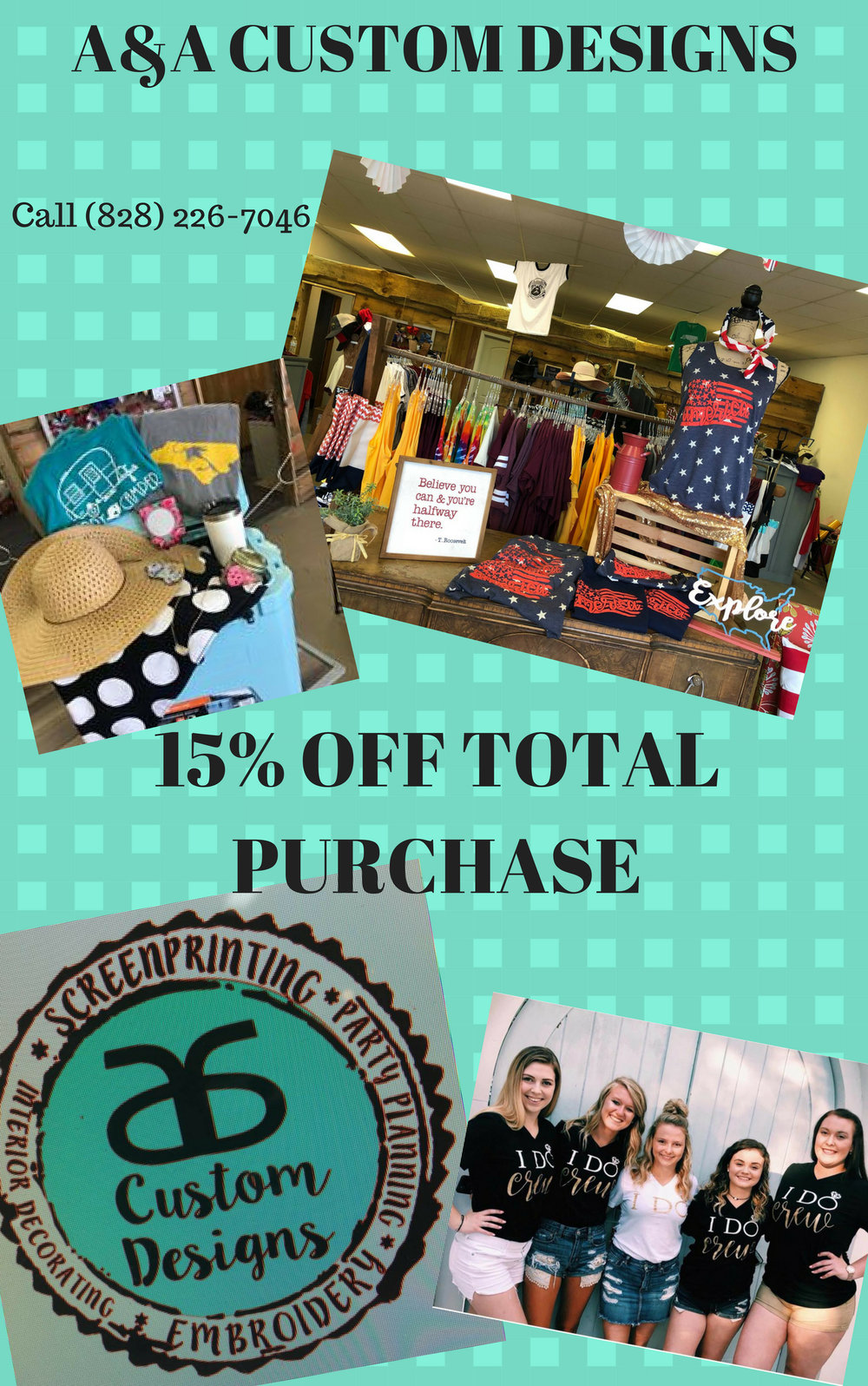 A&A Custom Designs 15% OFF Purchase