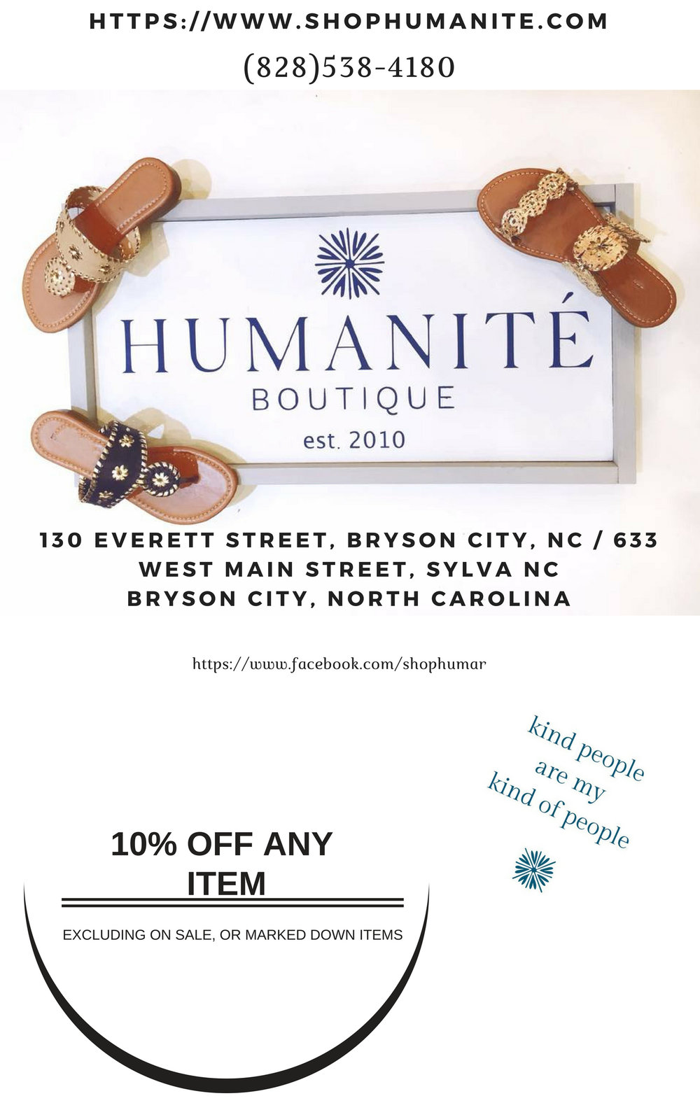 Humanite 10% OFF Any Single Item Purchase (Excluding marked down, or on sale)