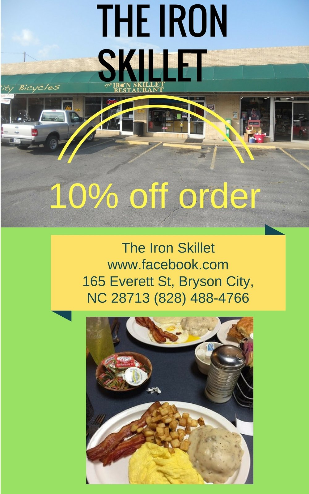 The Iron Skillet. 10% OFF Order