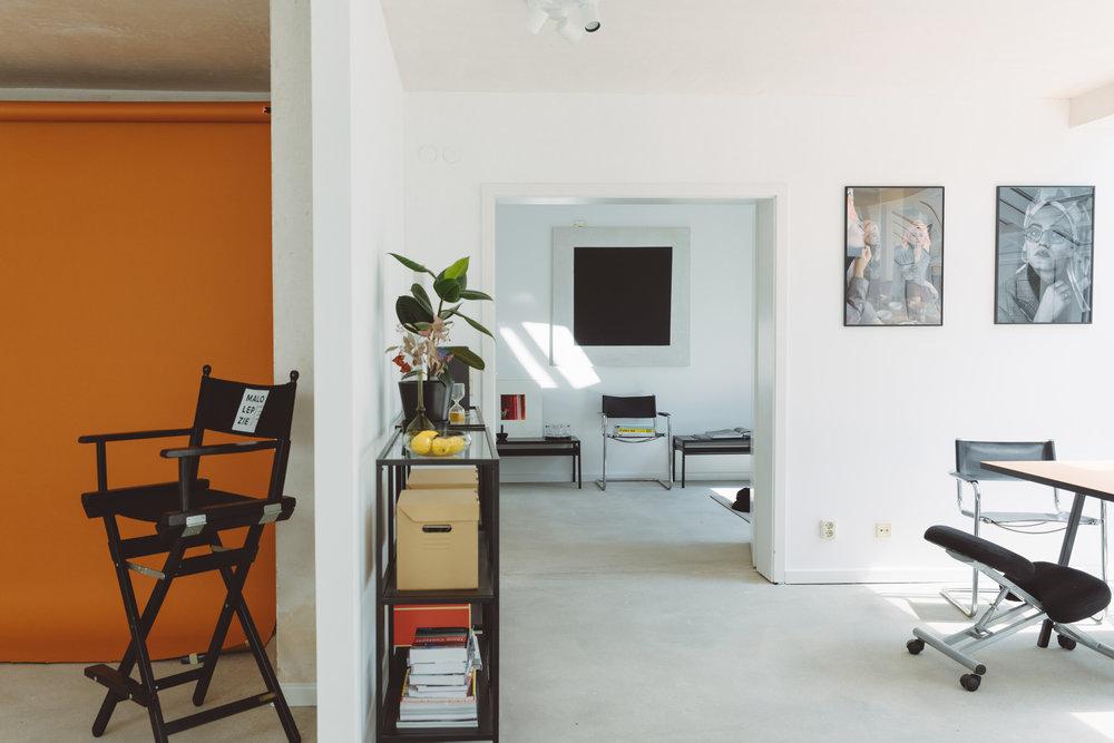 Studio - We built our very own studio Oct 17. It's gallery, atelier, head space and office.———————————Wir arbeiten von unserer Basis in Leipzig aus und produzieren international.