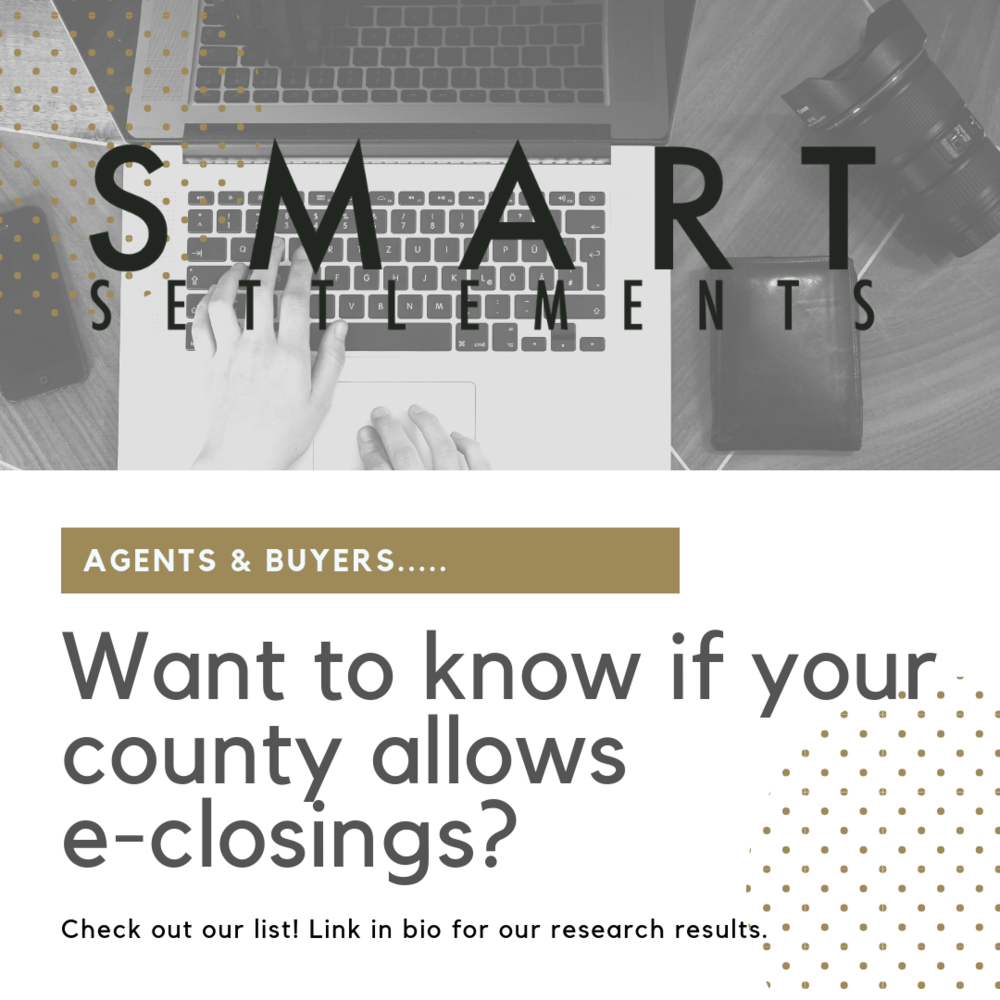 Check out our list of counties that allow e-closings! -