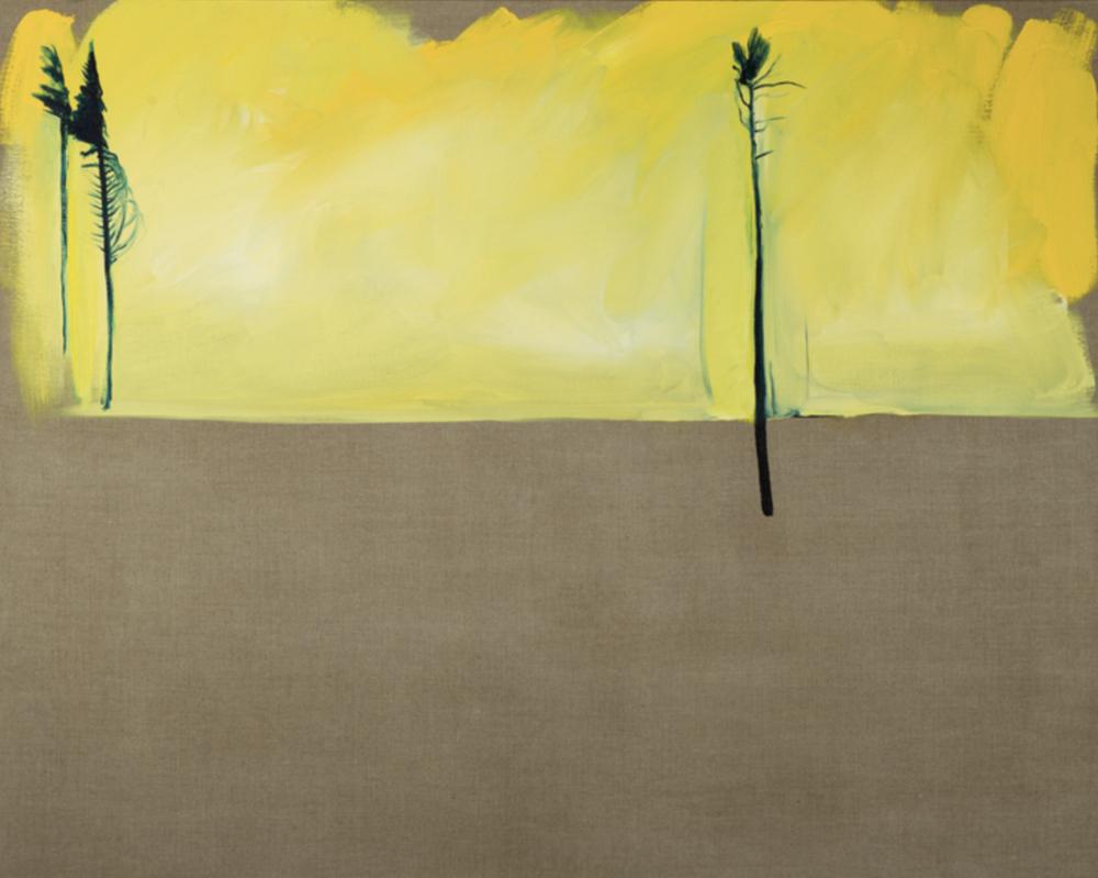 """Aspen Oil on Linen, 44"""" x 60"""" (2012)"""