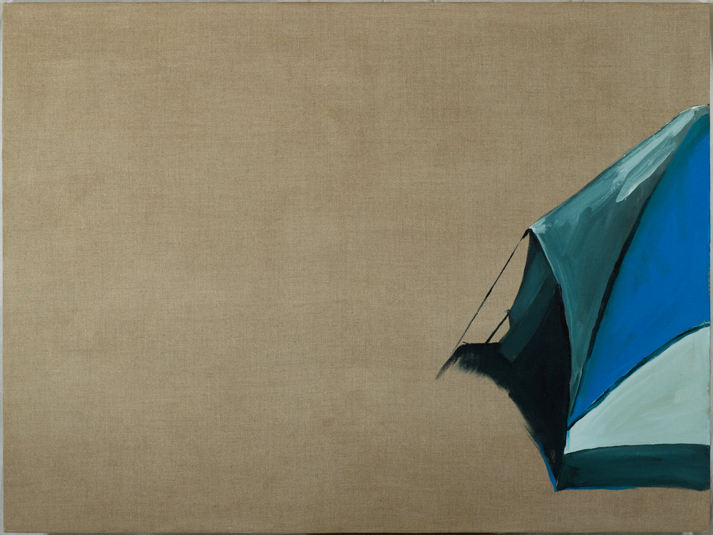 "Suspend Oil on Linen, 36"" x 48"" (2013)"