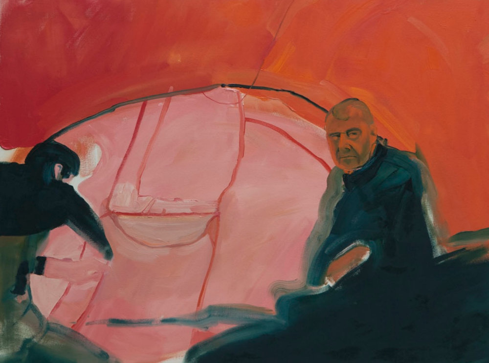 "Red Tent Oil on Canvas, 36"" x 48"" (2012)"