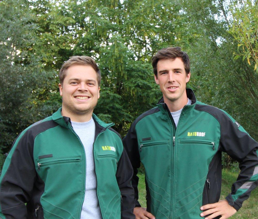 Entrepreneurs ing. Simon Casier (gauche) et ing. Matthias Leperre (droite)