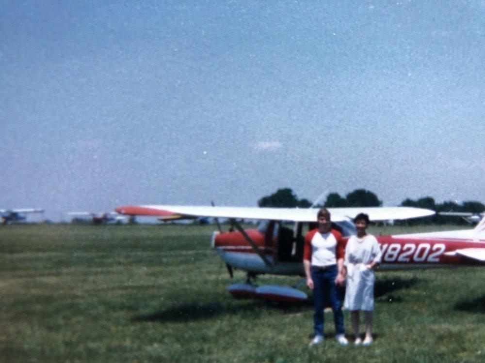 Joe took me to fly an airplane!