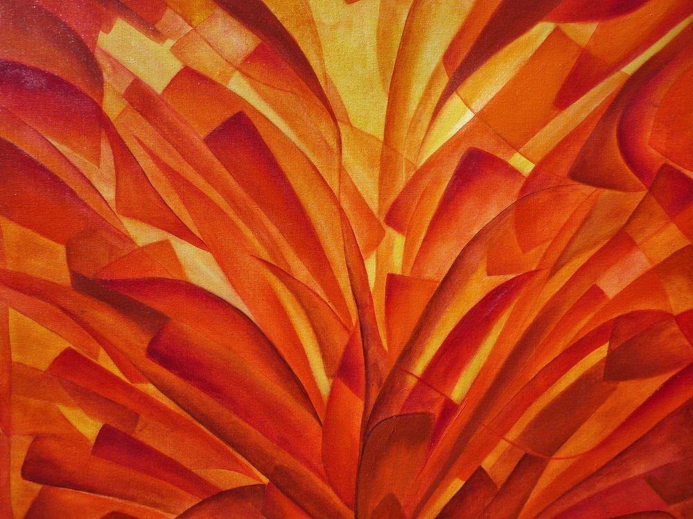Agave Rojo Mixta/Tela   70 × 80cm