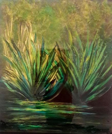 Henequen Mixta/Tela  80 x 60 cm