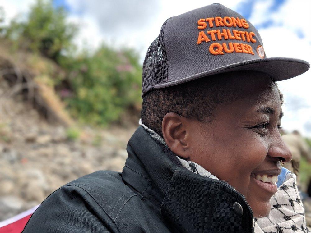 In one of the whitest cities in      the U.S.A... - ...a queer African American woman disrupts the outdoor adventurer stereotype.