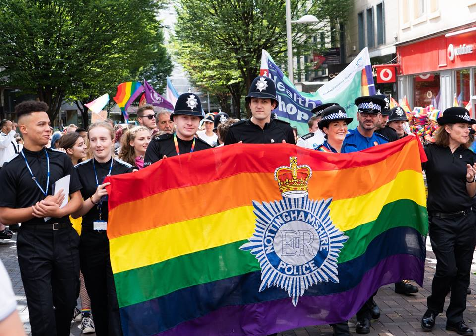 Nottinghamshire Police proudly supporting Pride 2018