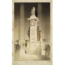 RIBA22013  Design for a war memorial to the London Troops outside the Royal Exchange, London