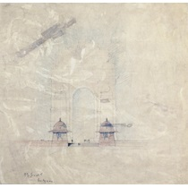 RIBA13029  Design for the All-India War Memorial Arch, New Delhi