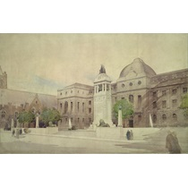 RIBA20492  Design for a war memorial, Leeds