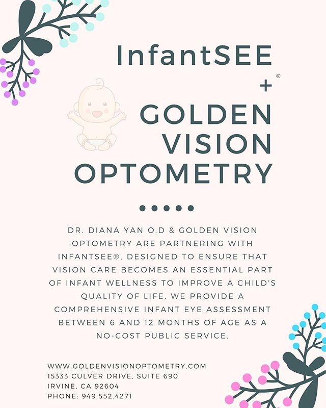 We are now with InfantSEE! Eye appointments for infants at no cost!
