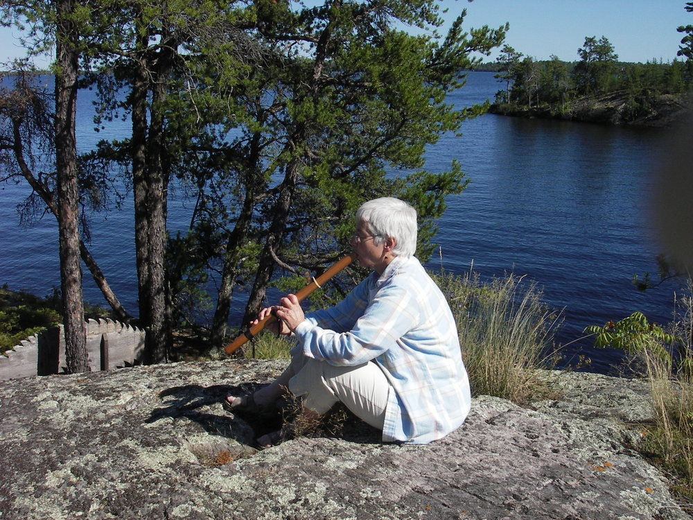 Lynn Cox on Mallard Island, MN. She was part of Outward Bound's first cohort of female trip leaders.