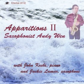 """Apparitions II"" Andy Wen, saxophone. Emeritus Records. Includes   Apparitions   for alto saxophone and electronics.    purchase here"