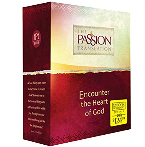 The Passion Translation - This is the version of the Bible I am currently reading. Translated from the Aramaic and Hebrew, it opens up new meaning, buy all the books!