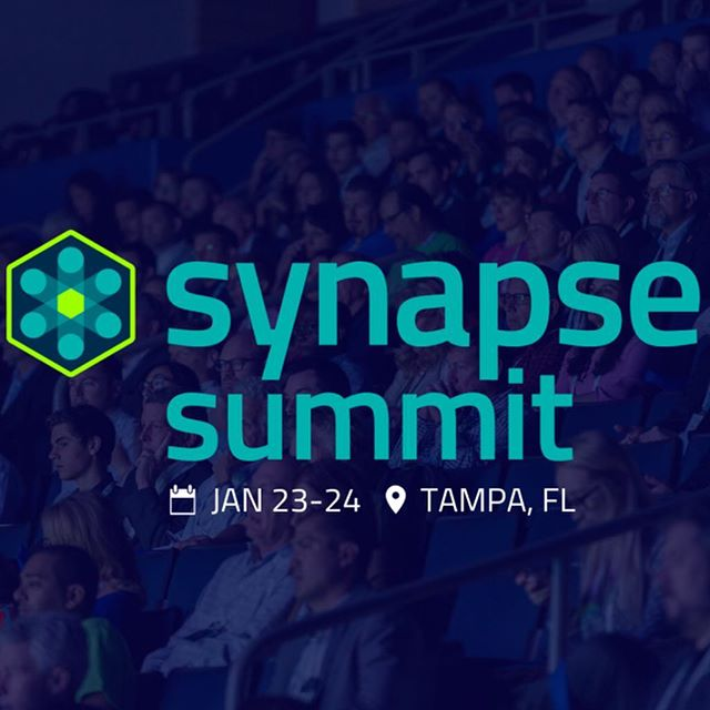 Who's ready for the Synapse Summit!? Come visit us on the third floor, section 120! 🙌