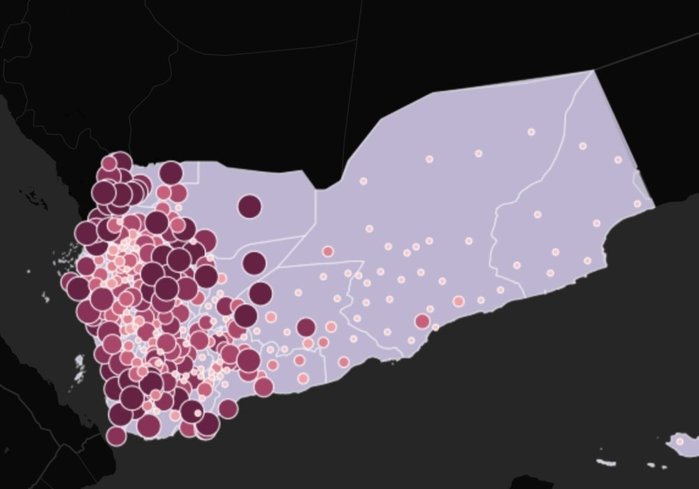 University Network participants used digital mapping software to create an interactive map with data on airstrikes by U.S.-backed Saudi/UAE-led Coalition forces in Yemen.