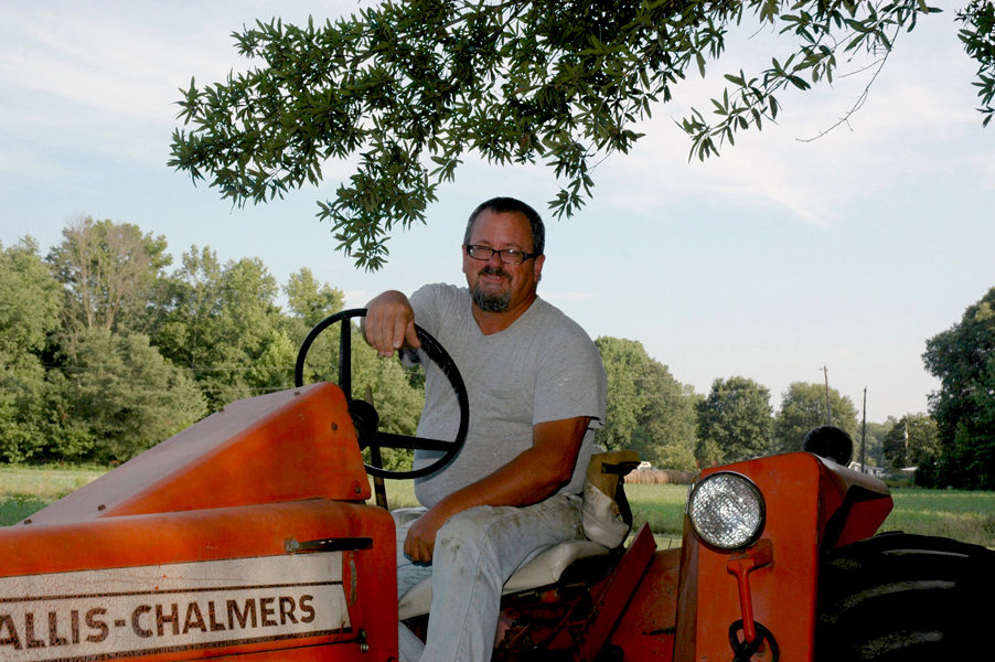 New Castle County Coucilman Bill Powers working his farm near Townsend, Delaware in 2008.jpg