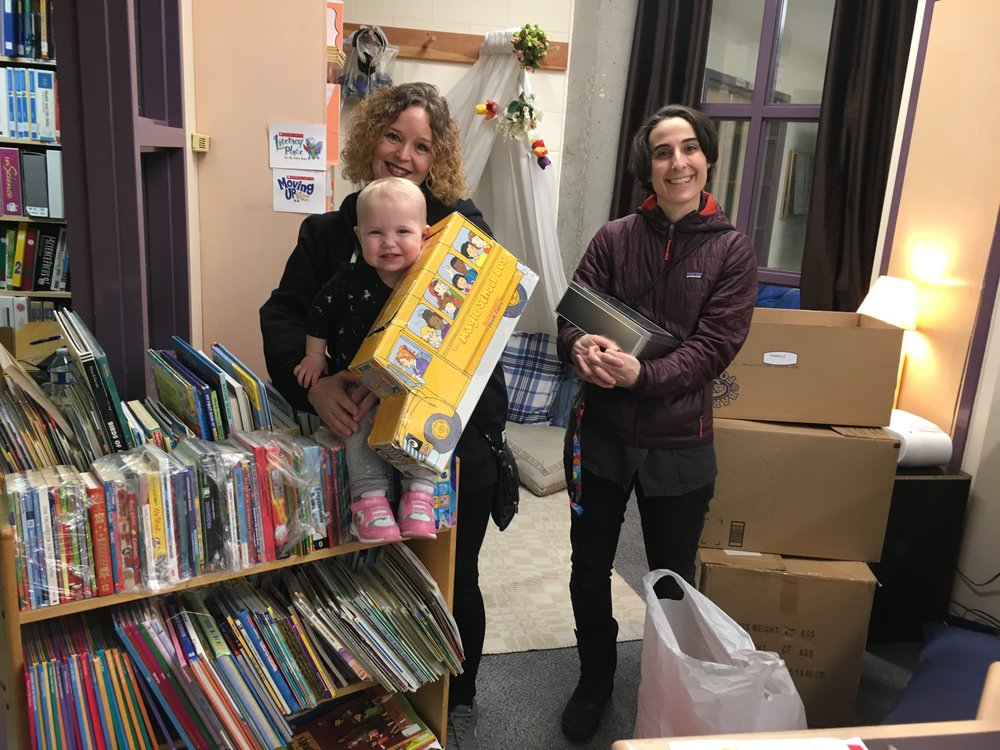 Sherrie, her granddaughter and I donating her books and my art kits to the school. If you are in Calgary and have gently used books or art supplies to donate to schools in need, please  contact me.