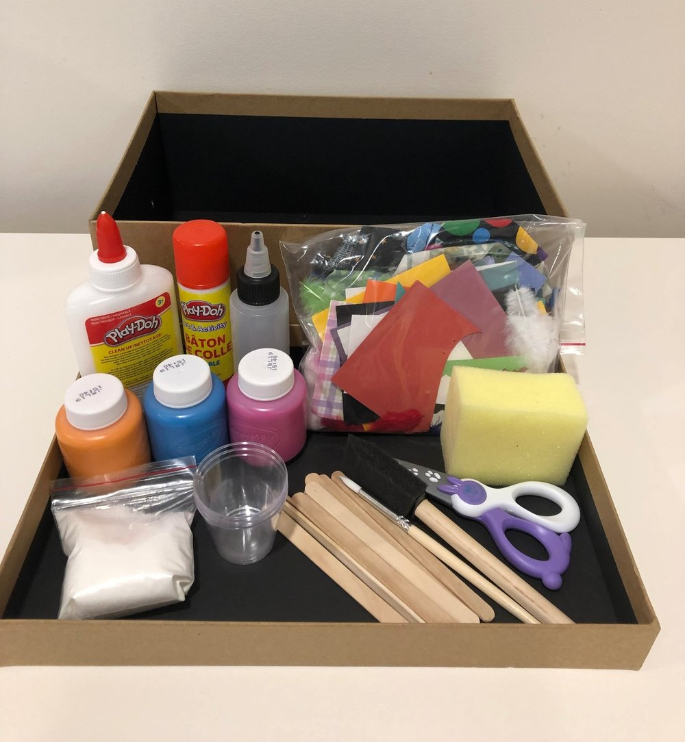 The prototype for my little art kit that is intended to encourage open-ended creative exploration