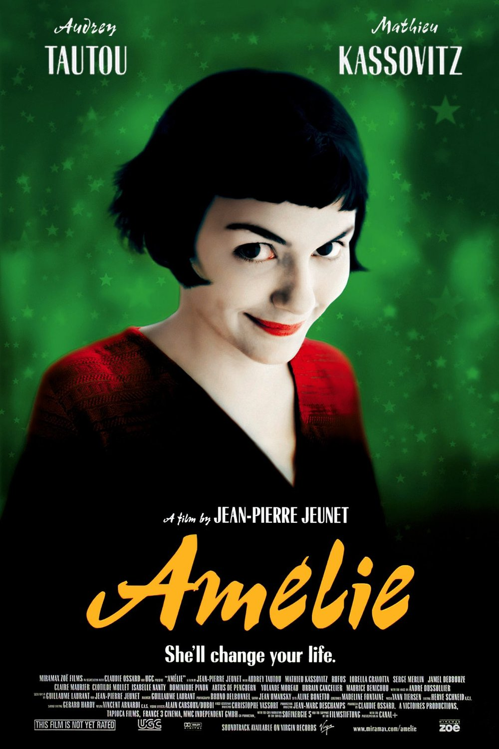 Amelie - This movie is magical! It weaves synchronicities together with a cleverness and humour that is wild, weird and totally charming in every way.