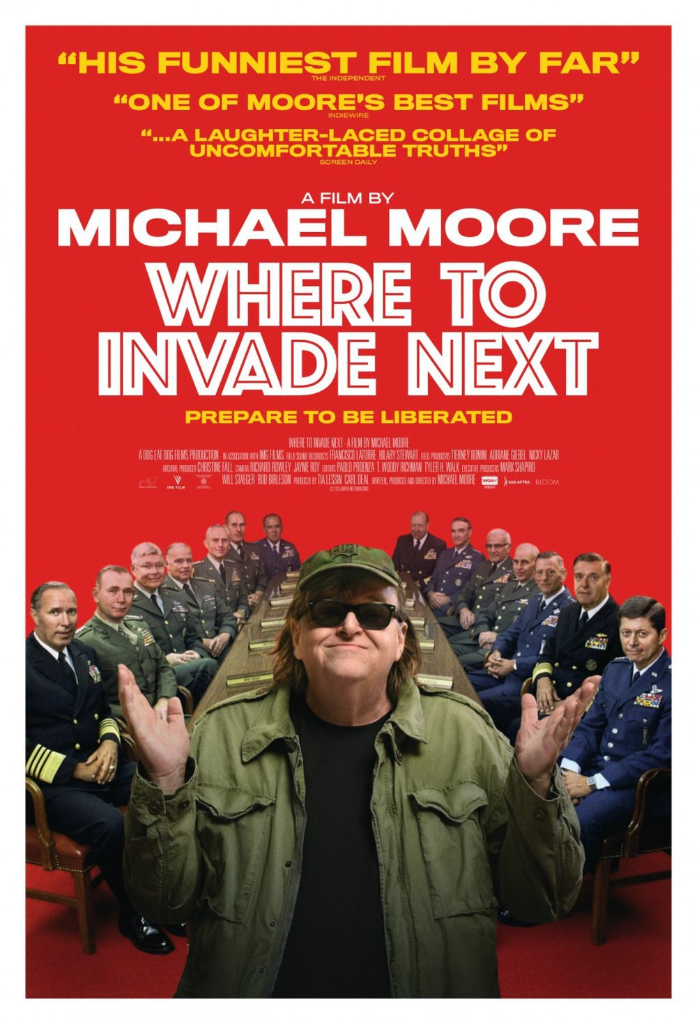 Where to Invade Next - A movie that explores the question: What if exploited other countries great ideas, rather than their resources? Now that's (r)evolutionary.[on Netflix!]