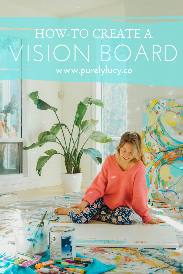 How-to Create a Vision Board || Part 1 @purelylucy