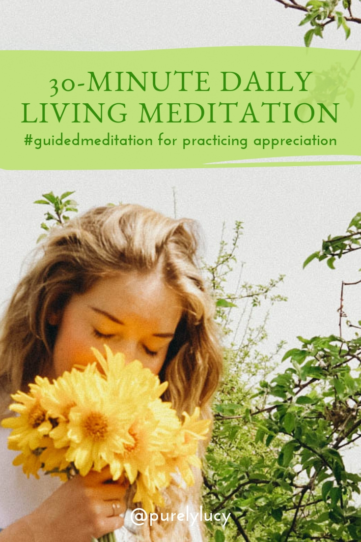 30-Minute Daily Living Meditation: Practicing Appreciation    www.purelylucy.co