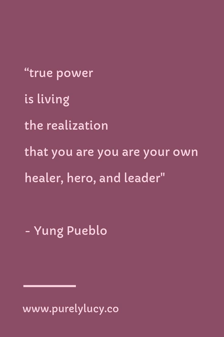 True Power    @yung_pueblo