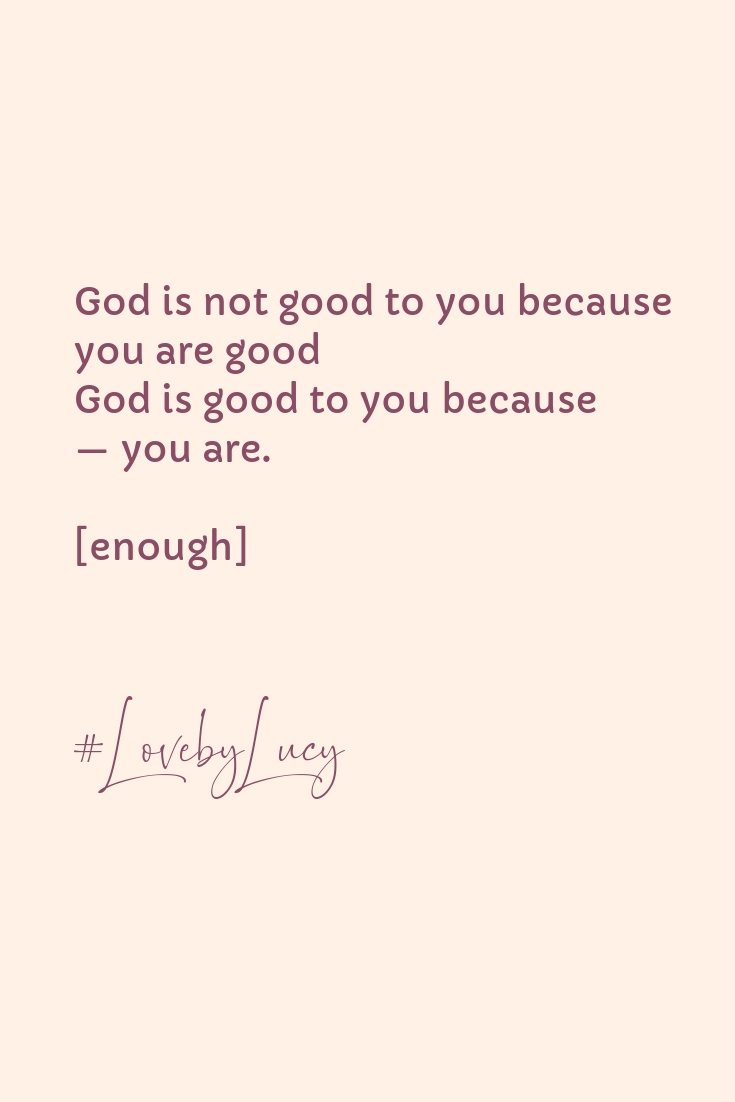 You are enough || www.purelylucy.co