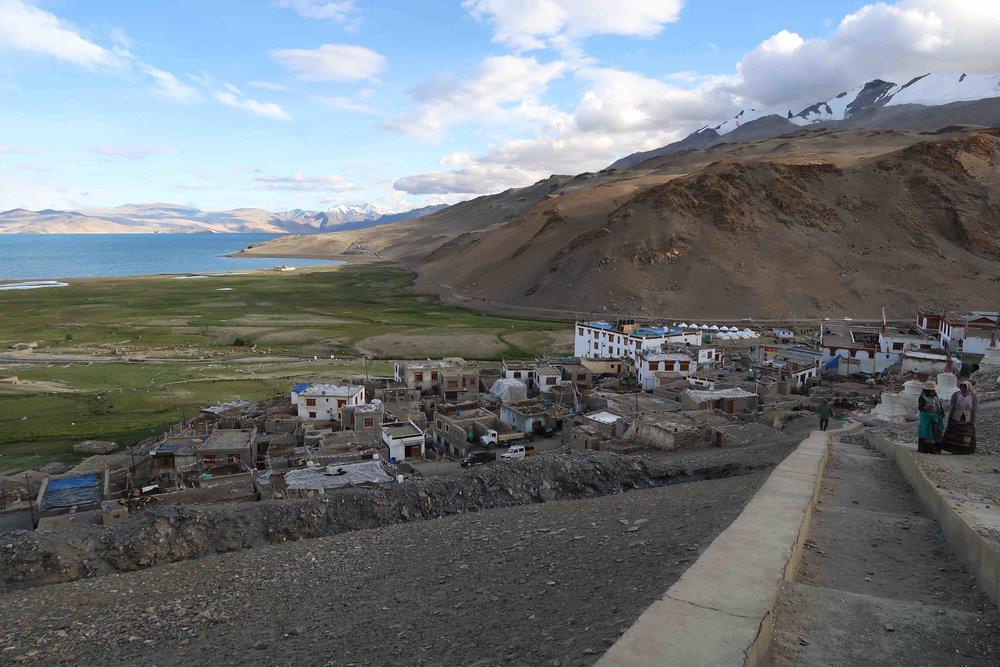 Korzok - a village on the edge of Lake Tso Moriri in Ladakh, India