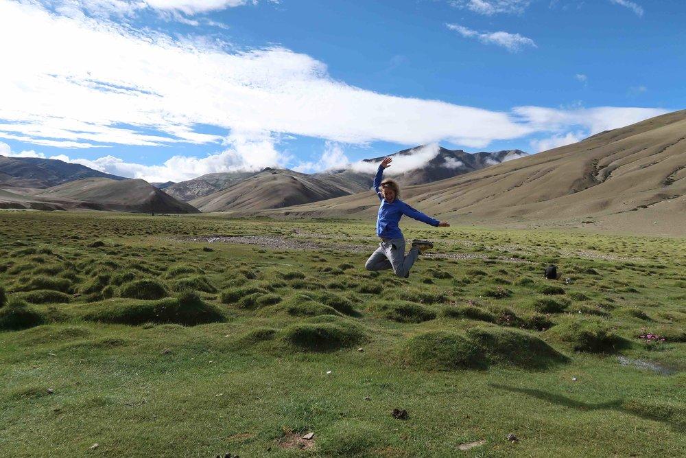 Chorten Sumdo on the Rumtze - Tso Moriri Trek in Ladakh, India