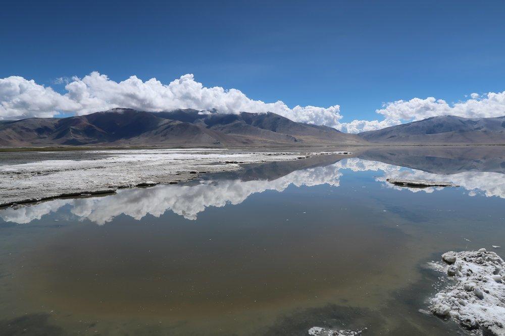 Lake Tso Kar on the Rumtze - Tso Moriri Trek in Ladakh, India