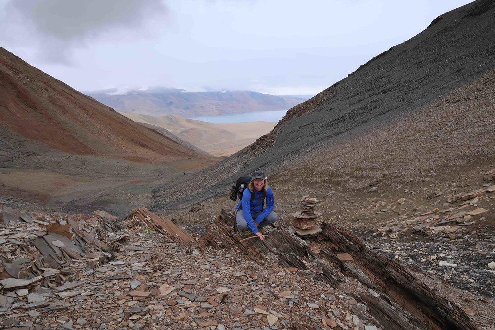 Arriving at Lake Tso Moriri on the Rumtze - Tso Moriri Trek in Ladakh, India