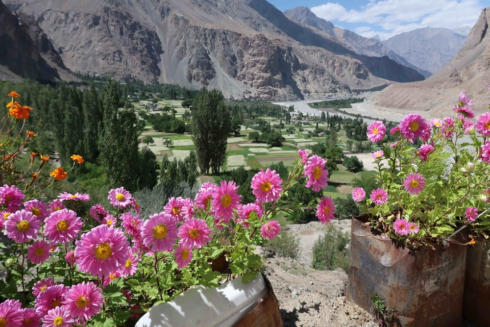 View over the small town of Turtuk in Nubra Valley - India. Right at the border with Pakistan, this place is alive with Balti culture!