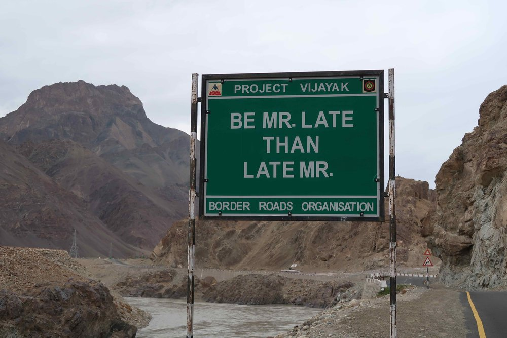 """""""Be Mr. Late than Late Mr"""". - 10 Inspirational Indian Road Signs"""
