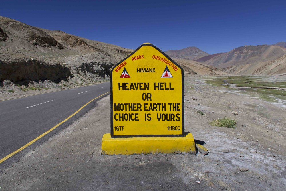 """""""Heaven Hell or Mother Earth, Choice is Yours"""" - 10 Inspirational Indian Road Signs"""
