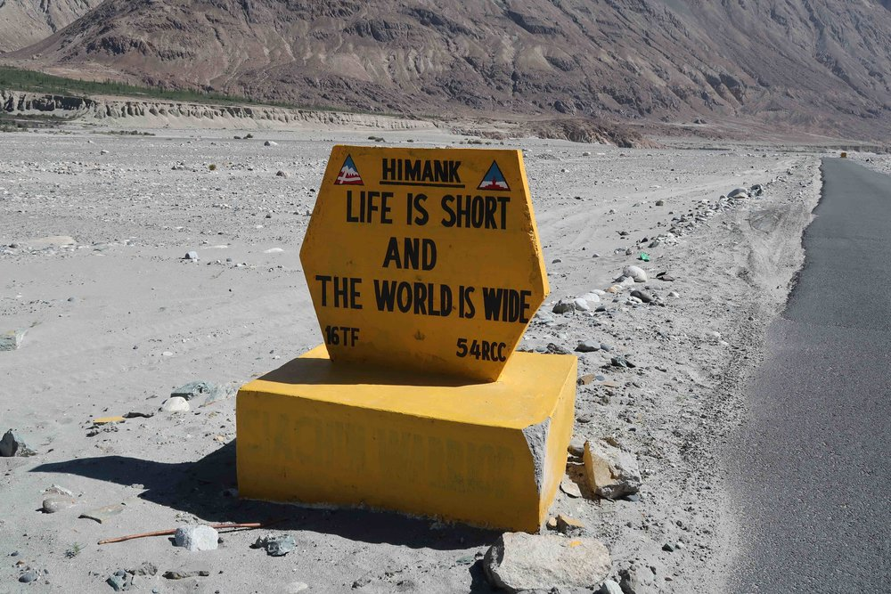 """""""Life is short and the world is wide"""" - 10 Inspirational Indian Road Signs"""