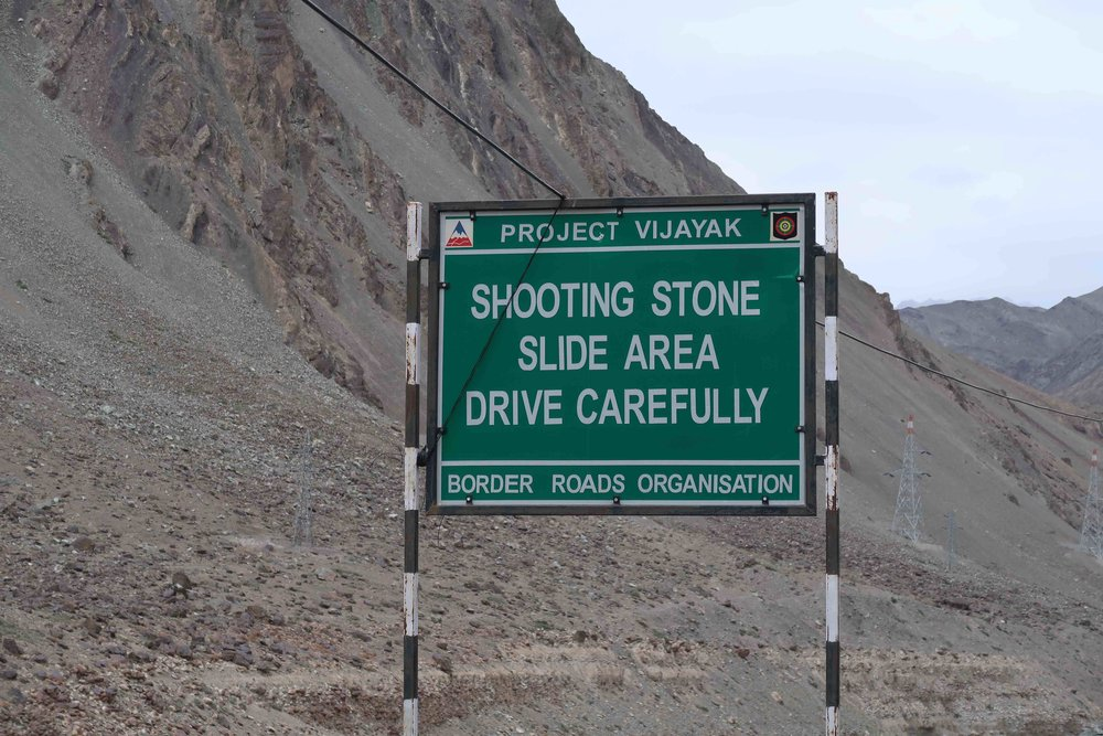 """""""Shooting Stone Slide Area Drive Carefully"""" - 10 Inspirational Indian Road Signs"""