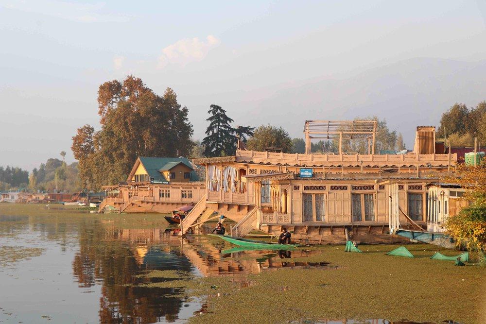 Kashmiri houseboat on Nageen Lake