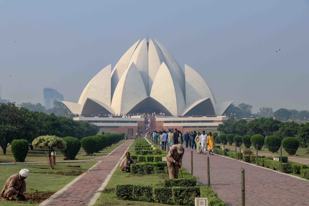The Lotus Temple in Delhi is a Baha'i House of Worship. Go for a religious tour of Delhi and explore these 8 places of worship.