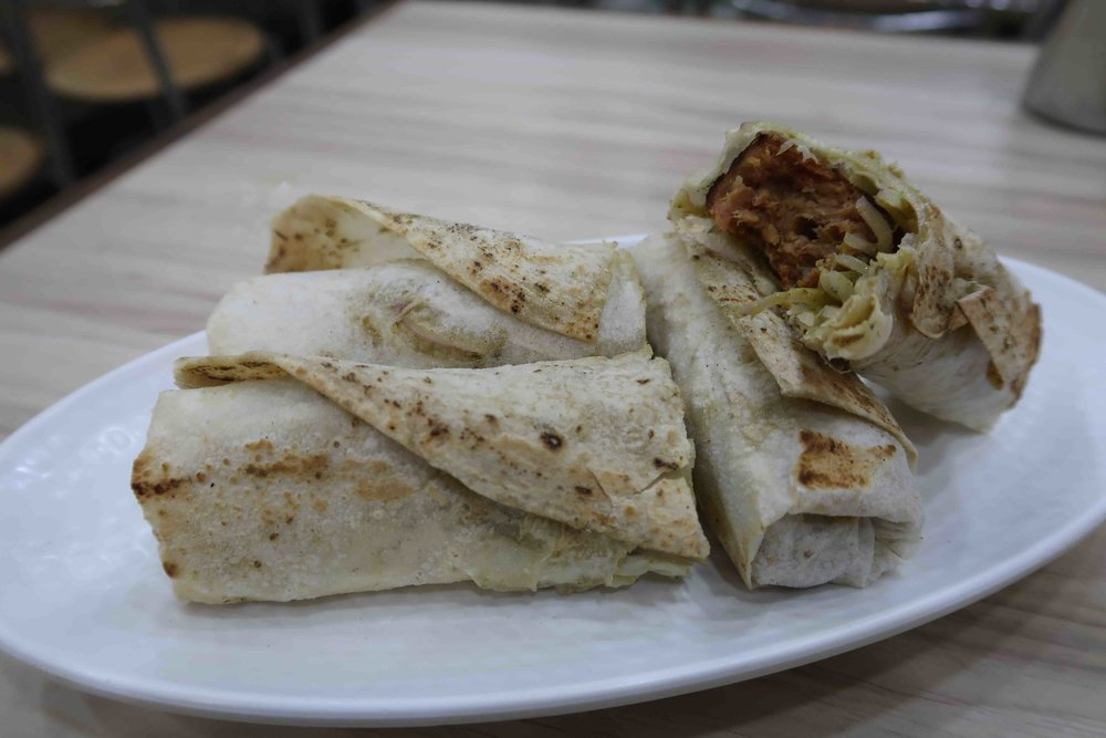 Mutton seekh roll at Jant-A restaurant, Karol Bagh, Delhi - One of 15 foods you HAVE to try in Delhi!