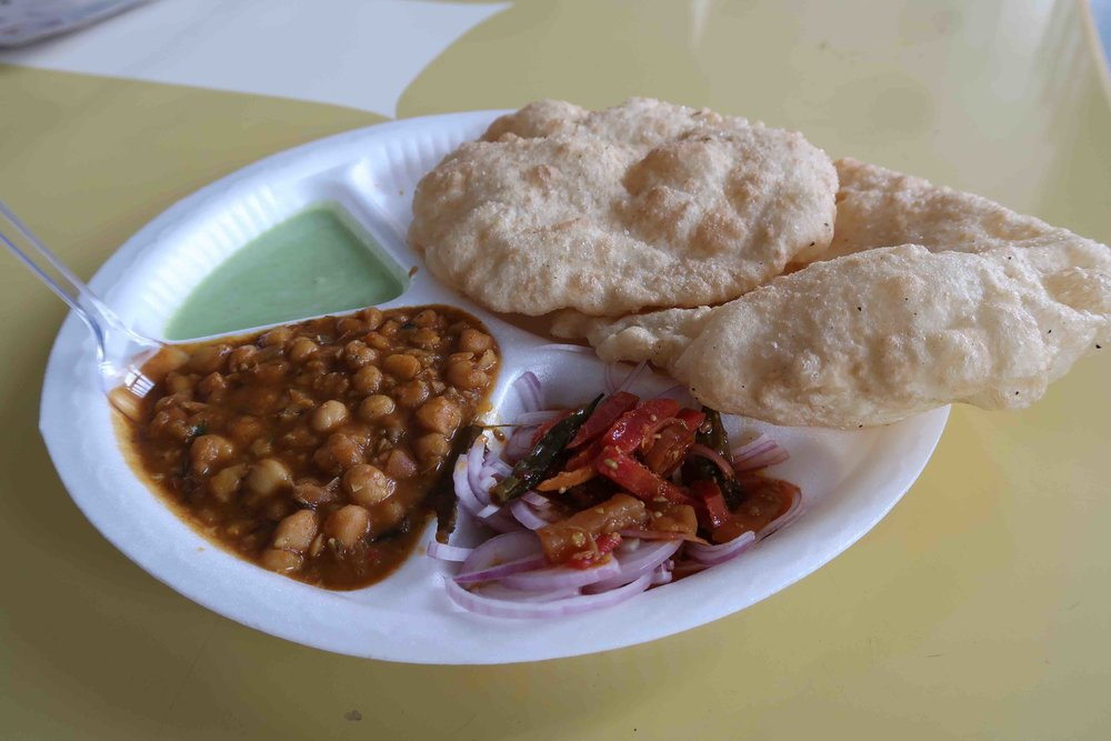 Chole Bhature Dilli Haat Delhi - One of 15 foods you HAVE to try in Delhi!