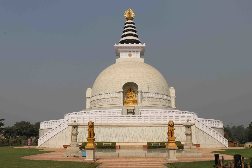 The World Peace Pagoda in Delhi in a Buddhist temple. Go for a religious tour of Delhi and explore these 8 places of worship!